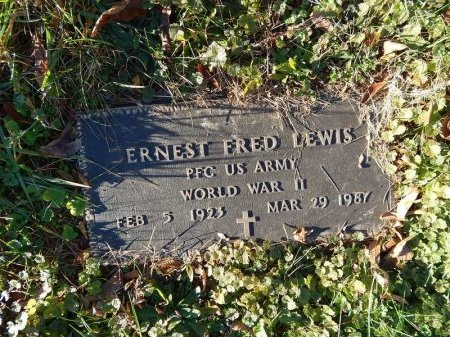 LEWIS (VETERAN WWII), ERNEST FRED   - Knox County, Tennessee | ERNEST FRED   LEWIS (VETERAN WWII) - Tennessee Gravestone Photos