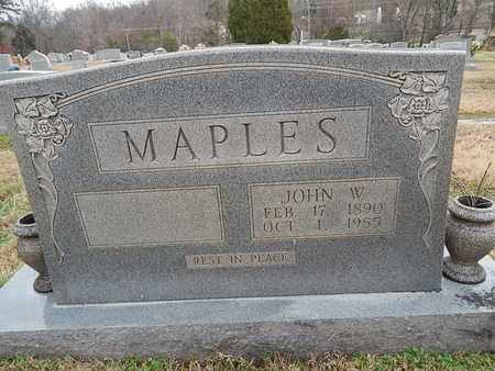 MAPLES, JOHN W - Knox County, Tennessee | JOHN W MAPLES - Tennessee Gravestone Photos