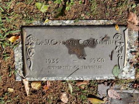 COX MARTIN, V CAROLYN (DOCTOR) - Knox County, Tennessee | V CAROLYN (DOCTOR) COX MARTIN - Tennessee Gravestone Photos