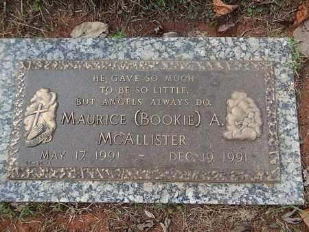 "MCALLISTER, MAURICE A ""BOOKIE"" - Knox County, Tennessee | MAURICE A ""BOOKIE"" MCALLISTER - Tennessee Gravestone Photos"