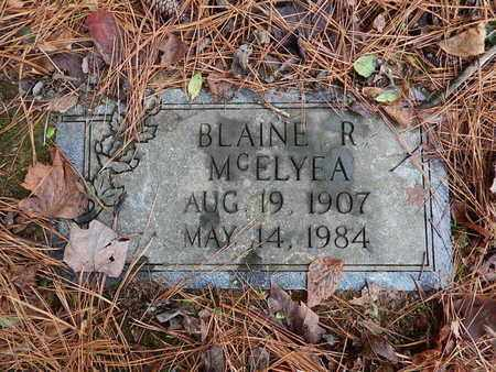 MCELYEA, BLAINE R - Knox County, Tennessee | BLAINE R MCELYEA - Tennessee Gravestone Photos