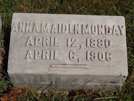 MONDAY, ANNA - Knox County, Tennessee | ANNA MONDAY - Tennessee Gravestone Photos