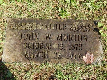 MORTON, JOHN W - Knox County, Tennessee | JOHN W MORTON - Tennessee Gravestone Photos