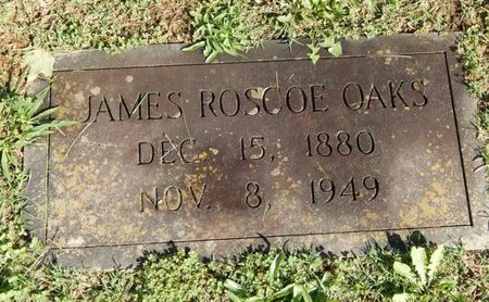 OAKS, JAMES ROSCOE - Knox County, Tennessee   JAMES ROSCOE OAKS - Tennessee Gravestone Photos