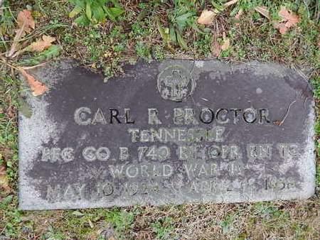 PROCTOR  (VETERAN WWII), CARL R - Knox County, Tennessee | CARL R PROCTOR  (VETERAN WWII) - Tennessee Gravestone Photos