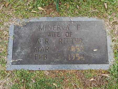 RITTER, MINERVA F - Knox County, Tennessee | MINERVA F RITTER - Tennessee Gravestone Photos
