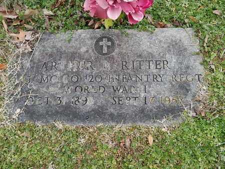 RITTER  (VETERAN WWI), ARTHUR R - Knox County, Tennessee | ARTHUR R RITTER  (VETERAN WWI) - Tennessee Gravestone Photos