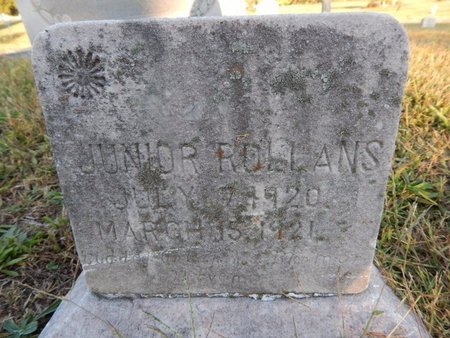 ROLLANS, JUNIOR - Knox County, Tennessee | JUNIOR ROLLANS - Tennessee Gravestone Photos