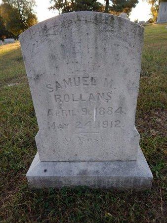 ROLLANS, SAMUEL M - Knox County, Tennessee   SAMUEL M ROLLANS - Tennessee Gravestone Photos