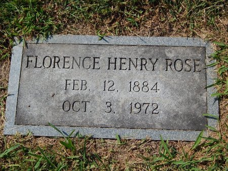 ROSE, FLORENCE - Knox County, Tennessee | FLORENCE ROSE - Tennessee Gravestone Photos