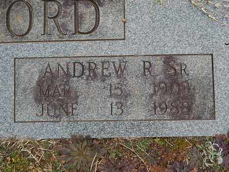 RUTHERFORD, ANDREW R SR (CLOSE-UP) - Knox County, Tennessee | ANDREW R SR (CLOSE-UP) RUTHERFORD - Tennessee Gravestone Photos