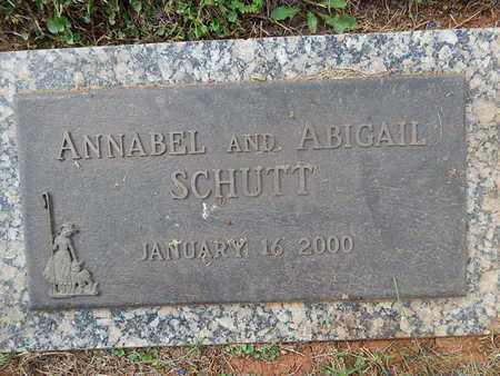 SCHUTT, ANNABEL - Knox County, Tennessee | ANNABEL SCHUTT - Tennessee Gravestone Photos