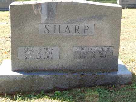 SHARP, ALBERTA P - Knox County, Tennessee   ALBERTA P SHARP - Tennessee Gravestone Photos