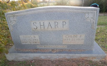 FUSON SHARP, CHLOE F - Knox County, Tennessee | CHLOE F FUSON SHARP - Tennessee Gravestone Photos