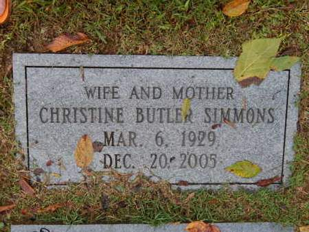 BUTLER SIMMONS, CHRISTINE - Knox County, Tennessee | CHRISTINE BUTLER SIMMONS - Tennessee Gravestone Photos