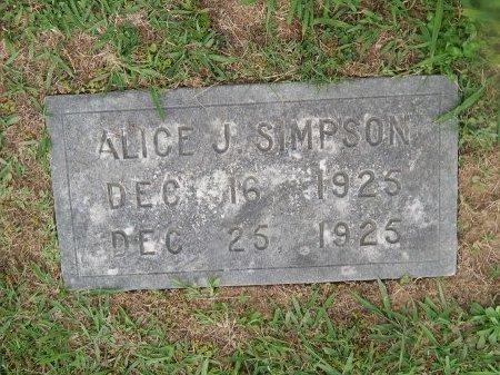 SIMPSON, ALICE J - Knox County, Tennessee   ALICE J SIMPSON - Tennessee Gravestone Photos