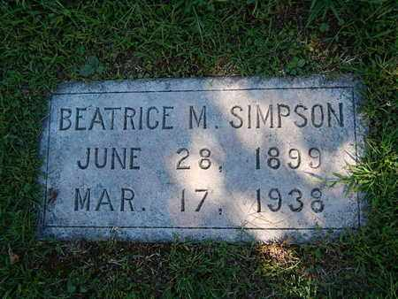 SIMPSON, BEATRICE M - Knox County, Tennessee | BEATRICE M SIMPSON - Tennessee Gravestone Photos