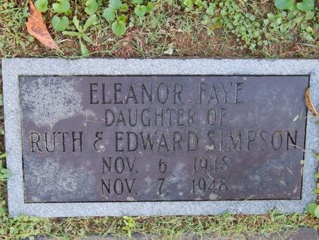 SIMPSON, ELEANOR FAYE - Knox County, Tennessee | ELEANOR FAYE SIMPSON - Tennessee Gravestone Photos
