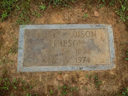 SIMPSON, HARRY EDISON - Knox County, Tennessee | HARRY EDISON SIMPSON - Tennessee Gravestone Photos
