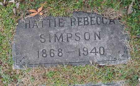 SIMPSON, HATTIE REBECCA - Knox County, Tennessee | HATTIE REBECCA SIMPSON - Tennessee Gravestone Photos
