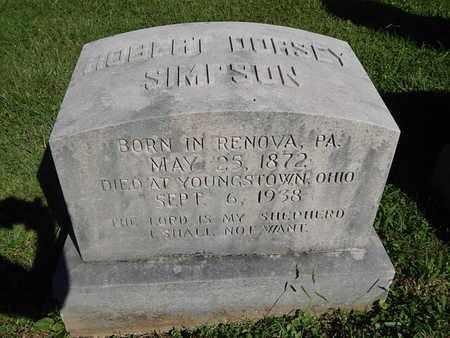 SIMPSON, HOBERT DORSEY - Knox County, Tennessee | HOBERT DORSEY SIMPSON - Tennessee Gravestone Photos
