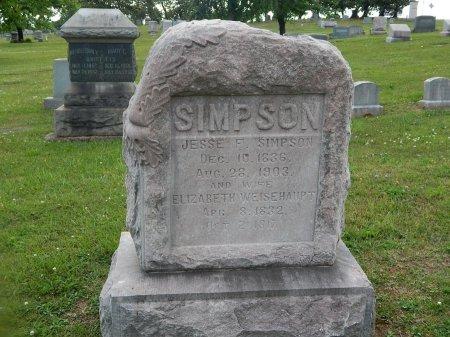 SIMPSON, JESSE F - Knox County, Tennessee | JESSE F SIMPSON - Tennessee Gravestone Photos
