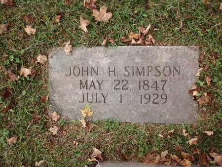 SIMPSON, JOHN H - Knox County, Tennessee | JOHN H SIMPSON - Tennessee Gravestone Photos