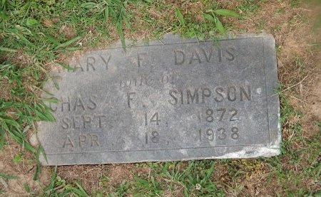 SIMPSON, MARY F - Knox County, Tennessee | MARY F SIMPSON - Tennessee Gravestone Photos