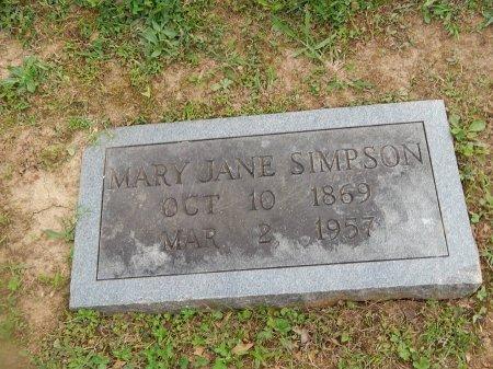 SIMPSON, MARY JANE - Knox County, Tennessee | MARY JANE SIMPSON - Tennessee Gravestone Photos