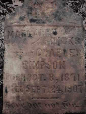 SIMPSON, MARGARET - Knox County, Tennessee | MARGARET SIMPSON - Tennessee Gravestone Photos