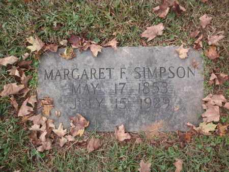 SIMPSON, MARGARET ISABELLA - Knox County, Tennessee | MARGARET ISABELLA SIMPSON - Tennessee Gravestone Photos