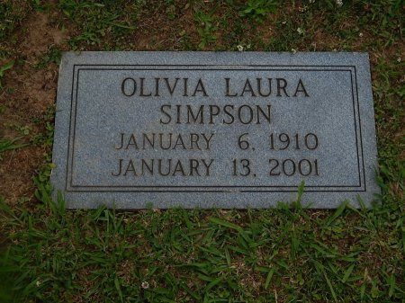 SIMPSON, OLIVIA LAURA - Knox County, Tennessee   OLIVIA LAURA SIMPSON - Tennessee Gravestone Photos