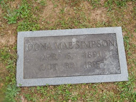 SIMPSON, OONA MAE - Knox County, Tennessee | OONA MAE SIMPSON - Tennessee Gravestone Photos