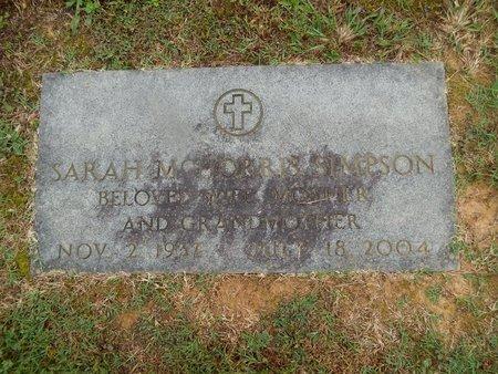 SIMPSON, SARAH - Knox County, Tennessee | SARAH SIMPSON - Tennessee Gravestone Photos