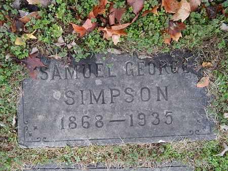 SIMPSON, SAMUEL GEORGE - Knox County, Tennessee   SAMUEL GEORGE SIMPSON - Tennessee Gravestone Photos
