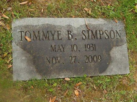SIMPSON, TOMMYE B - Knox County, Tennessee   TOMMYE B SIMPSON - Tennessee Gravestone Photos