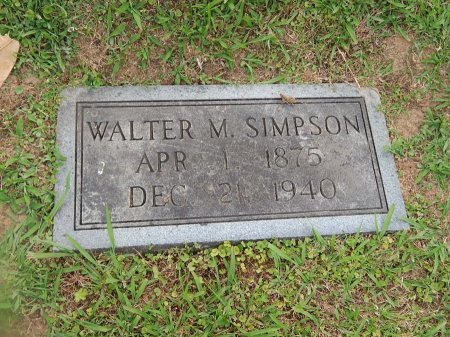 SIMPSON, WALTER M - Knox County, Tennessee   WALTER M SIMPSON - Tennessee Gravestone Photos