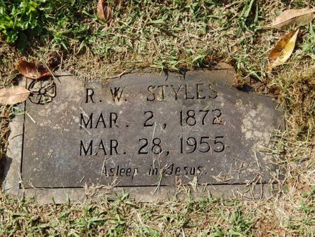 STYLES, R W - Knox County, Tennessee | R W STYLES - Tennessee Gravestone Photos