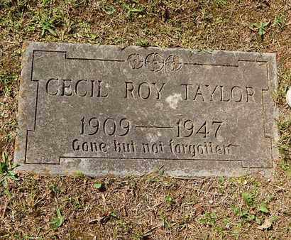 TAYLOR, CECIL ROY - Knox County, Tennessee | CECIL ROY TAYLOR - Tennessee Gravestone Photos