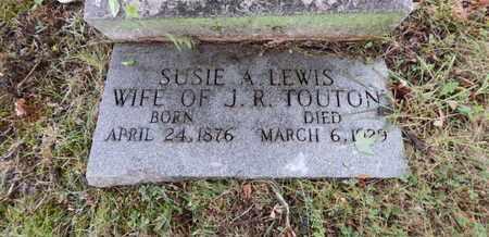 TOUTON, SUSIE A - Knox County, Tennessee | SUSIE A TOUTON - Tennessee Gravestone Photos