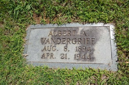 VANDERGRIFF, ALBERT A - Knox County, Tennessee | ALBERT A VANDERGRIFF - Tennessee Gravestone Photos