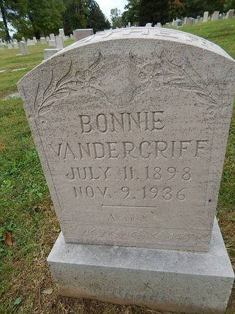 VANDERGRIFF, BONNIE - Knox County, Tennessee | BONNIE VANDERGRIFF - Tennessee Gravestone Photos