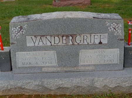 VANDERGRIFF, BETTY R - Knox County, Tennessee | BETTY R VANDERGRIFF - Tennessee Gravestone Photos
