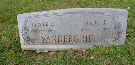 VANDERGRIFF, CLAUDE C - Knox County, Tennessee | CLAUDE C VANDERGRIFF - Tennessee Gravestone Photos