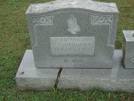 VANDERGRIFF, ELIZABETH (CLOSE-UP) - Knox County, Tennessee | ELIZABETH (CLOSE-UP) VANDERGRIFF - Tennessee Gravestone Photos