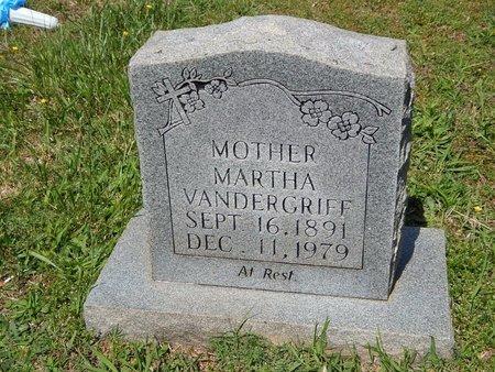 VANDERGRIFF, MARTHA - Knox County, Tennessee   MARTHA VANDERGRIFF - Tennessee Gravestone Photos
