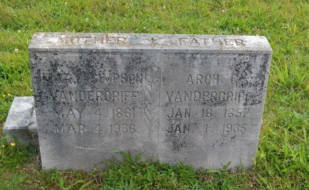 VANDERGRIFF, MARY - Knox County, Tennessee | MARY VANDERGRIFF - Tennessee Gravestone Photos