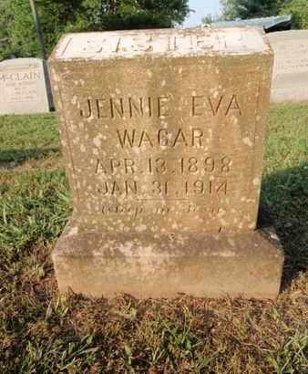 WAGAR, JENNIE EVA - Knox County, Tennessee   JENNIE EVA WAGAR - Tennessee Gravestone Photos