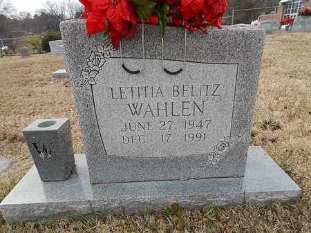BELITZ WAHLEN, LETITIA - Knox County, Tennessee | LETITIA BELITZ WAHLEN - Tennessee Gravestone Photos