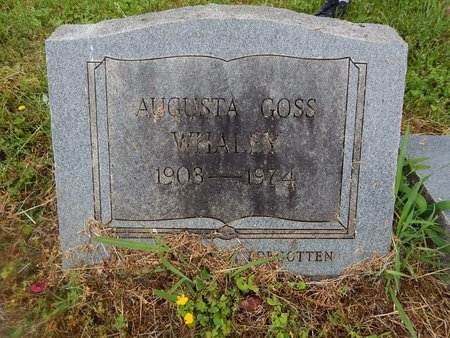 WHALEY, AUGUSTA - Knox County, Tennessee | AUGUSTA WHALEY - Tennessee Gravestone Photos